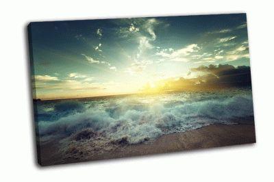 Картина заход солнца на сейшелских островах