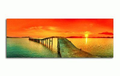 Картина заход солнца над морем