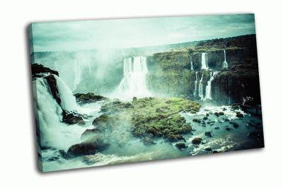 Картина захватывающий водопад в мире игуасу