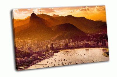 Картина залив гуанабара в рио