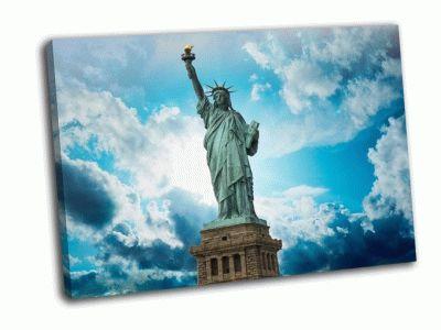 Картина замечателный вид статуи свободы