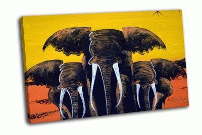 Картина занзибар, 10 слонов