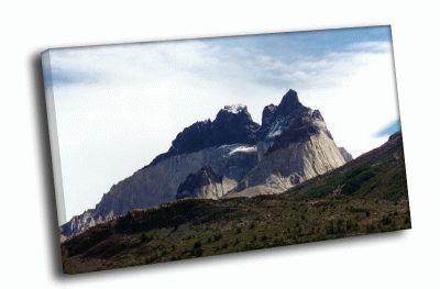 Картина заснеженные горы