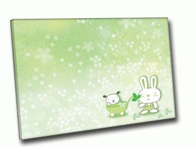 Картина заяц с коляской под снегом