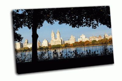 Картина здания в нью-йорке