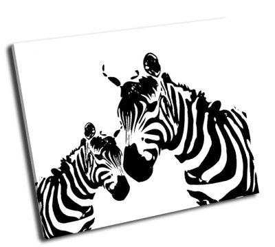 Картина зебра мать и дитя