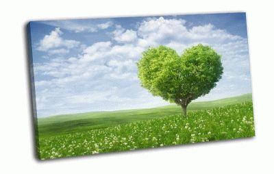 Картина зеленое дерево любви