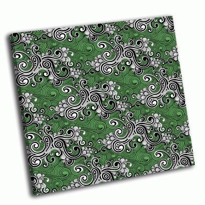 Картина зеленые узоры
