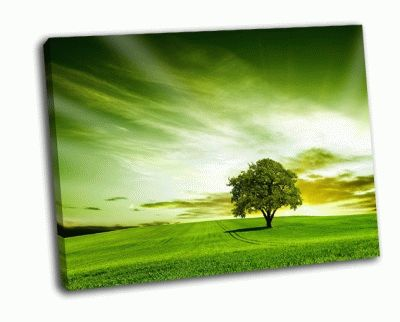 Картина зеленый пейзаж