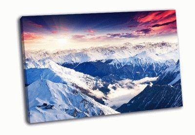 Картина зимний пейзаж в австрии