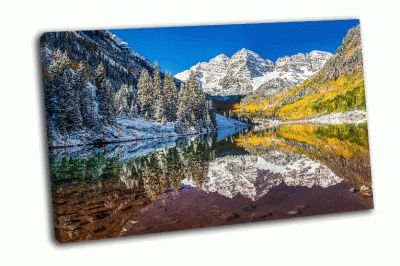 Картина зимой и осенью на марун беллс