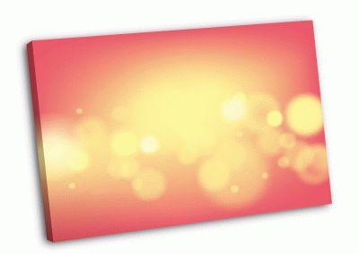 Картина золотое свечение на розовом