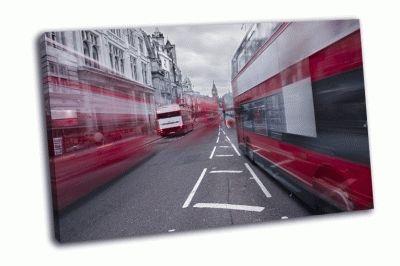 Красные автобусы в Лондоне