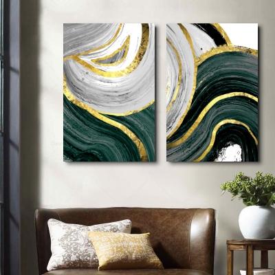 """Комплект картин """"Зеленые волны"""""""