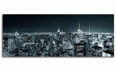 Манхэттен ночью, панорама