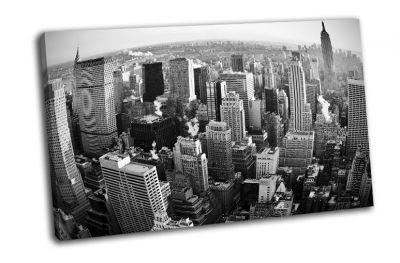 Нью-Йорк на закате, городской пейзаж