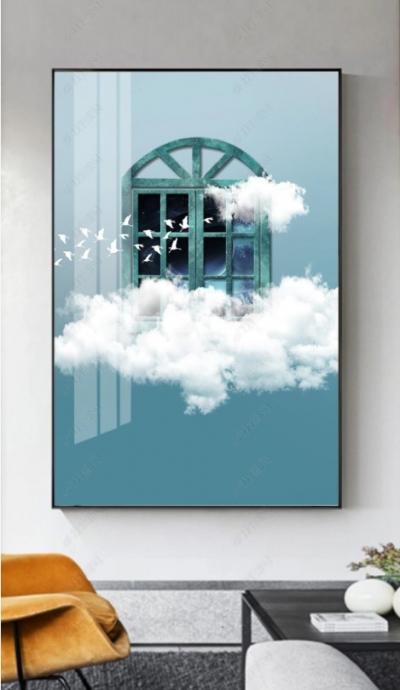 "Картина постер под стеклом ""Окно в небо"""