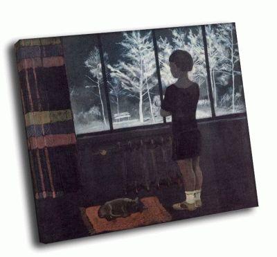 Репродукция картины а.а. дейнека - девочка у окна