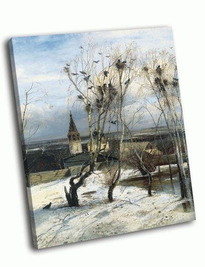 Репродукция картины а. саврасов - «грачи прилетели»