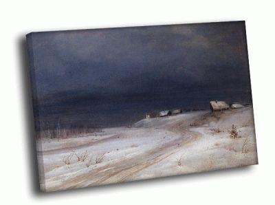 Репродукция картины а. саврасов - зимний пейзаж 2