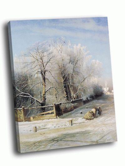 Репродукция картины а. саврасов - зимний пейзаж