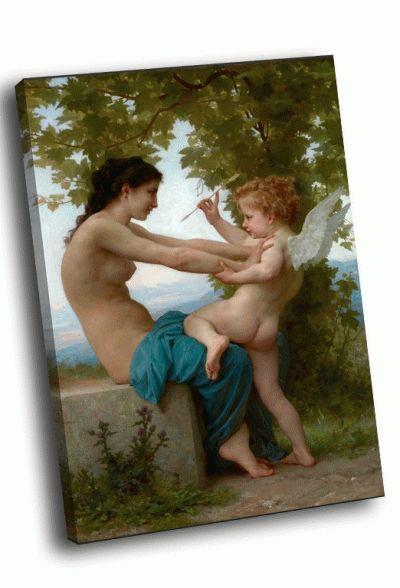 Репродукция картины адольф уильям бугро - девушка и купидон (1880)