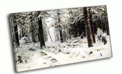 Репродукция картины и. шишкин - зима