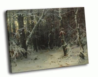 Репродукция картины и. шишкин - зимний лес