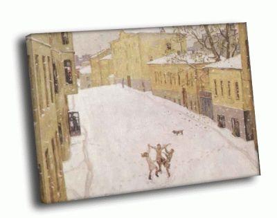 Репродукция картины игорь попов - первый снег