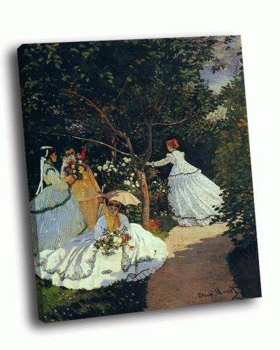 Репродукция картины клод моне - «женщины в саду»