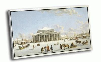 Репродукция картины лори, габриэль матиас - вид большого театра в санкт-петербурге
