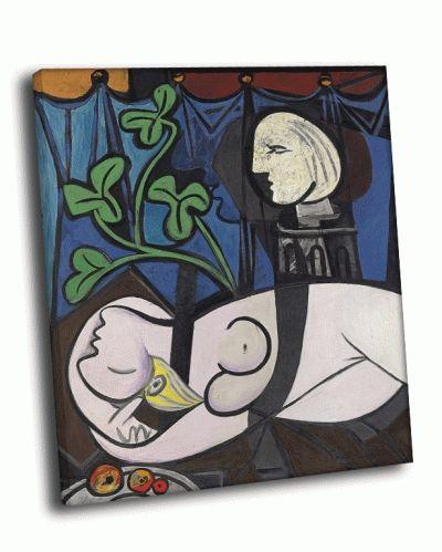 Репродукция картины пабло пикассо - обнажённая, зелёные листья и бюст, 1932