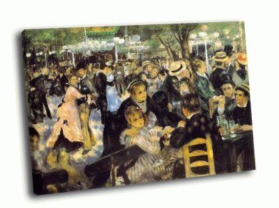 Репродукция картины пьер огюст ренуар - бал в мулен де ла галетт