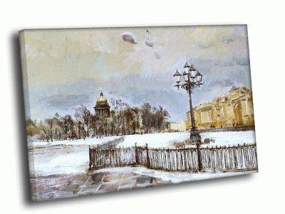 Репродукция картины петербург зима маслом
