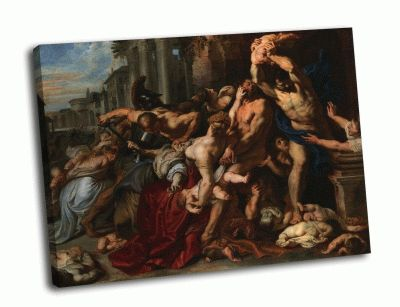 Репродукция картины питер пауль рубен - избиение младенцев