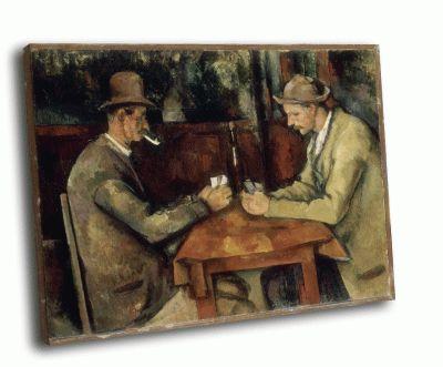Репродукция картины поль сезанн - игроки в карты (3-я картина серии)