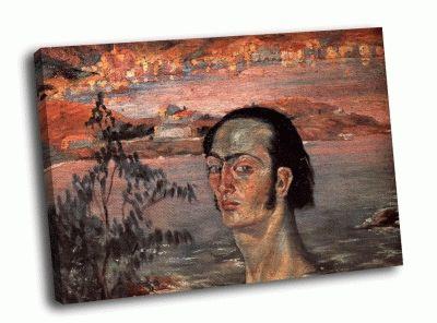 Репродукция картины сальвадор дали - автопортрет с рафаэлевской шеей