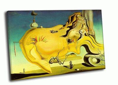 Репродукция картины сальвадор дали - великий мастурбатор (1929)