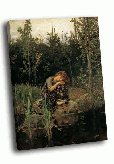 Репродукция картины в. м. васнецов - алёнушка (1881)