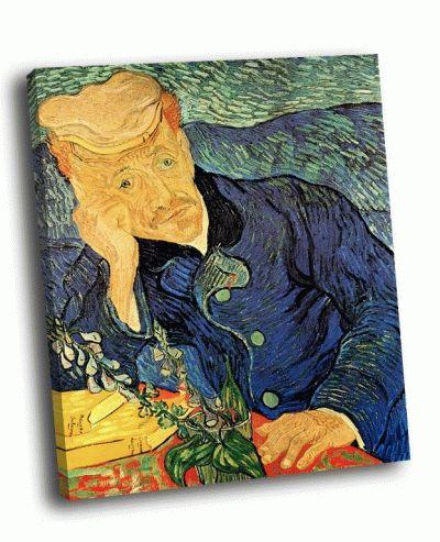Репродукция картины ван гог - портрет доктора гаше