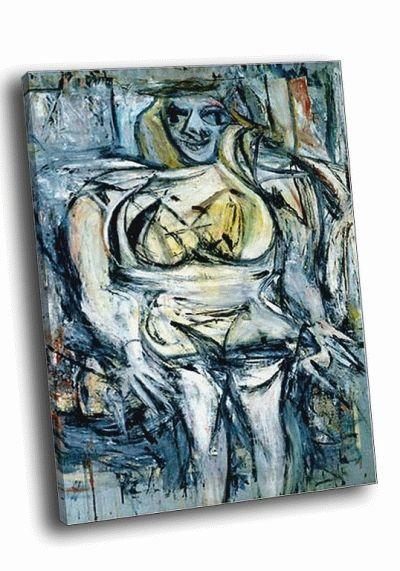 Репродукция картины виллем де кунинг  - женщина iii