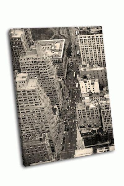 Улица в Манхэттене с воздуха