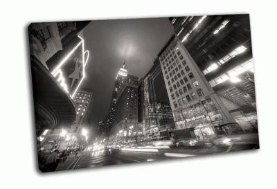 Таймс-Сквер, Манхэттен черно-белый