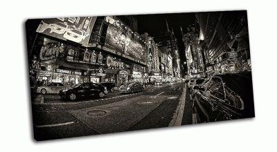 Таймс-Сквер, Нью-Йорк черно-белый