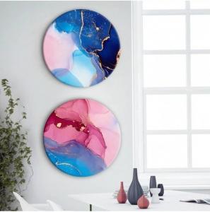 """Комплект круглых картин """"Разноцветная абстракция"""""""