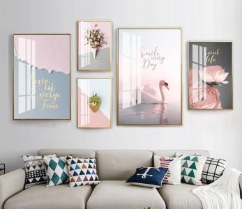 """Комплект картин """"Розовый сет"""""""