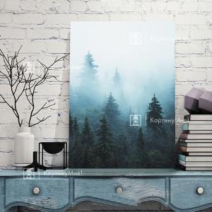 Таинственный лес в тумане