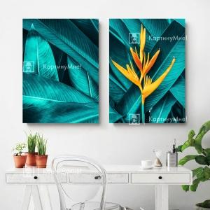 """Модульная картина """"Цветок джунглей"""""""