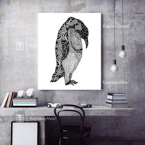 Нарисованный пингвин