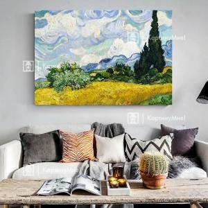 """Винсет Ван Гог """"Пшеничное поле с кипарисами"""""""